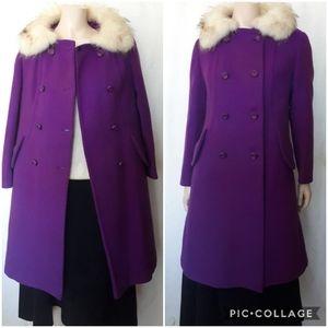 🛑VTG | Simpsons Dresscoat with Fur Collar